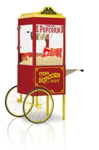 grote popcornmachine op kar