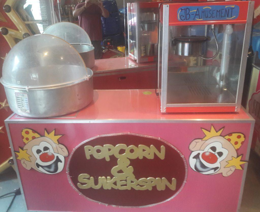 Suikerspin en Popcorn combinatie